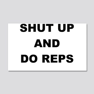 SHUT UP AND DO REPS Wall Decal