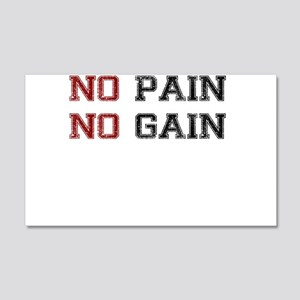 NO PAIN NO GAIN TWO COLOR Wall Decal