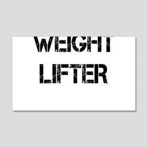 WEIGHT LIFTER Wall Decal