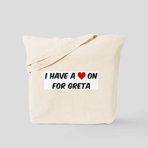 Heart on for Greta Tote Bag