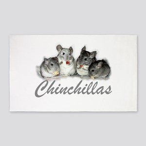 Chinchillas 3'x5' Area Rug