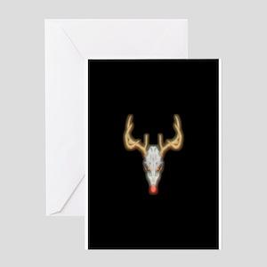 Dead-nosed Reindeer Greeting Card