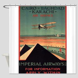 Imperial Airways, Vintage Poster Shower Curtain