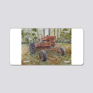 old farm tractor painting Aluminum License Plate