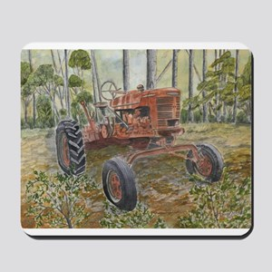old farm tractor painting Mousepad