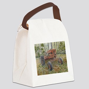 old farm tractor painting Canvas Lunch Bag