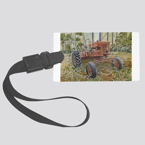 old farm tractor painting Luggage Tag