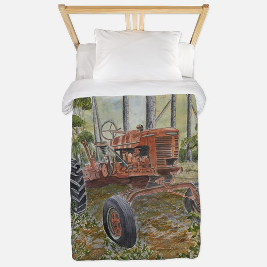 old farm tractor painting Twin Duvet