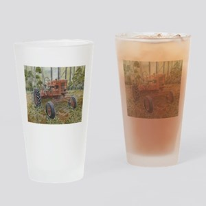 old farm tractor painting Drinking Glass