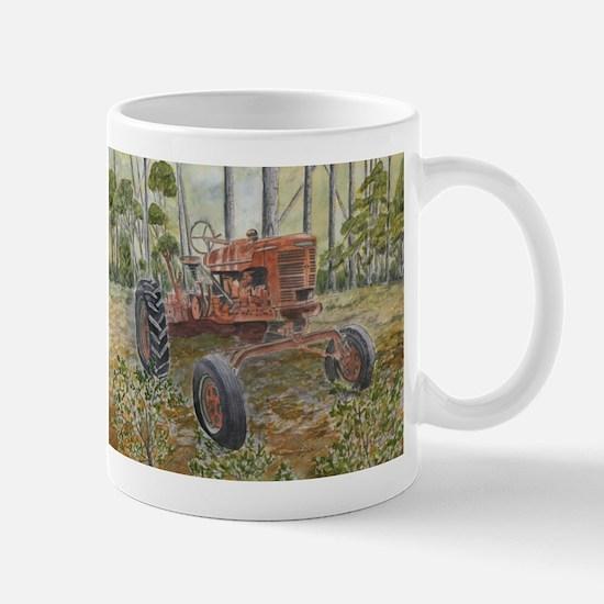 old farm tractor painting Mug
