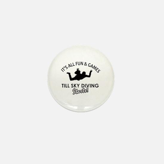 Sky Diving enthusiast designs Mini Button