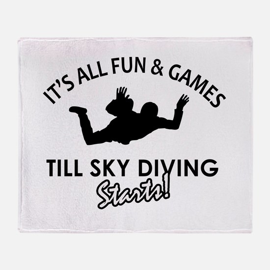Sky Diving enthusiast designs Throw Blanket