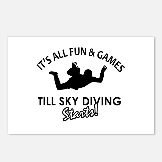 Sky Diving enthusiast designs Postcards (Package o
