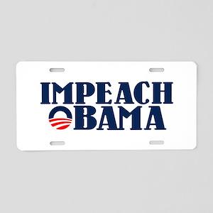 Impeach Obama Aluminum License Plate