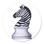 Zebra Knight Round Car Magnet