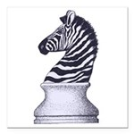 Zebra Knight Square Car Magnet 3