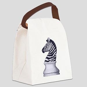 Zebra Knight Canvas Lunch Bag