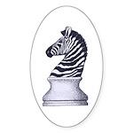 Zebra Knight Sticker (Oval 50 pk)