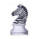Zebra Knight Sticker (Rectangle 50 pk)