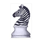 Zebra Knight Sticker (Rectangle 10 pk)