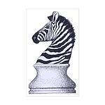 Zebra Knight Sticker (Rectangle)