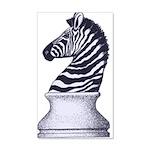 Zebra Knight 35x21 Wall Decal