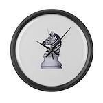 Zebra Knight Large Wall Clock