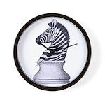 Zebra Knight Wall Clock