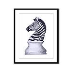 Zebra Knight Framed Panel Print