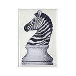 Zebra Knight Rectangle Magnet (10 pack)