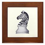 Zebra Knight Framed Tile