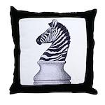 Zebra Knight Throw Pillow