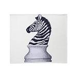 Zebra Knight Throw Blanket