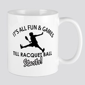 Racquetball enthusiast designs Mug