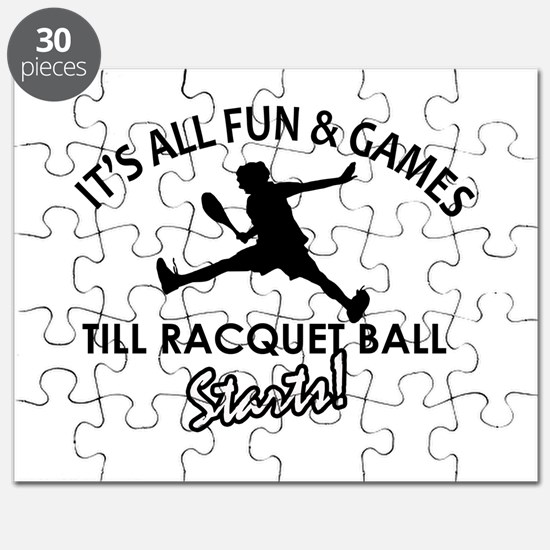 Racquetball enthusiast designs Puzzle