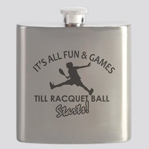 Racquetball enthusiast designs Flask