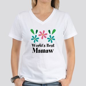 Worlds Best Mamaw Grandma Personalized T-Shirt