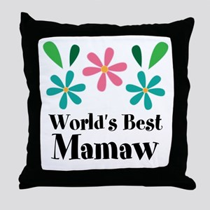 Worlds Best Mamaw Grandma Personalized Throw Pillo