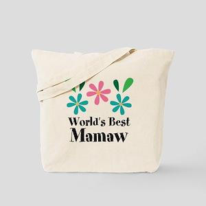 Worlds Best Mamaw Grandma Personalized Tote Bag