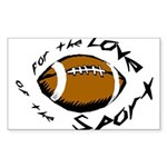 Football Rectangle Sticker