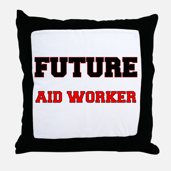 Future Aid Worker Throw Pillow