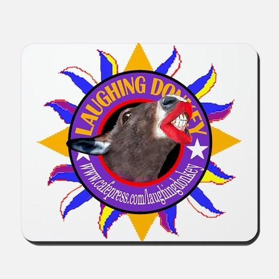 LAUGHING DONKEY LOGO Mousepad