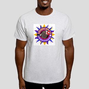 LAUGHING DONKEY LOGO Ash Grey T-Shirt