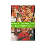Shotgun Christmas Rectangle Magnet (10 pack)