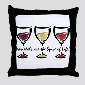 Varietal Wine Throw Pillow