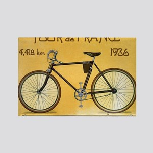 Tour de France, Bicycle, Vintage Poster Rectangle