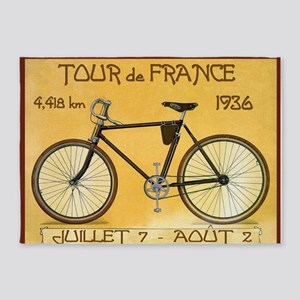 Tour de France, Bicycle, Vintage Poster 5'x7'Area