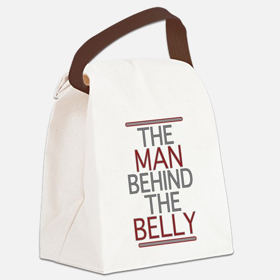 The Man Behind The Belly Canvas Lunch Bag