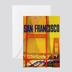Golden Gate, San Francisco, Vintage Poster Greetin