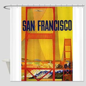 Golden Gate, San Francisco, Vintage Poster Shower